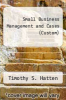 cover of Small Business Management and Cases (Custom) (5th edition)