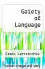 cover of Gaiety of Language