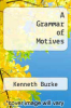 cover of A Grammar of Motives