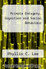 cover of Primate Ontogeny, Cognition and Social Behaviour
