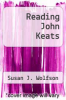 cover of Reading John Keats