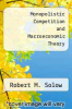 cover of Monopolistic Competition and Macroeconomic Theory