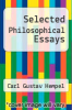 cover of Selected Philosophical Essays