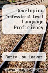Cover of Developing Professional-Level Language Proficiency EDITIONDESC (ISBN 978-0521816571)