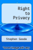 cover of Right to Privacy