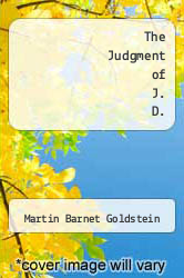 Cover of The Judgment of J. D. EDITIONDESC (ISBN 978-0533105458)