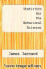 cover of Statistics for the Behavioral Sciences (1st edition)