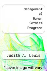 Cover of Management of Human Service Programs 1 (ISBN 978-0534013356)
