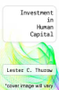 cover of Investment in Human Capital