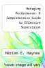 cover of Managing Performance: A Comprehensive Guide to Effective Supervision