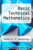 cover of Basic Technical Mathematics (1st edition)