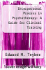 cover of Interpersonal Process in Psychotherapy: A Guide for Clinical Training (1st edition)