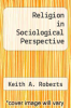 cover of Religion in Sociological Perspective (2nd edition)