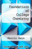 cover of Foundations of College Chemistry (7th edition)