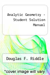 Cover of Analytic Geometry - Student Solution Manual 5TH 93 (ISBN 978-0534172756)