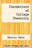 cover of Foundations of College Chemistry (8th edition)