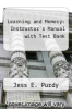 cover of Learning and Memory: Instructor`s Manual with Test Bank (2nd edition)