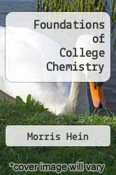 Cover of Foundations of College Chemistry 10 (ISBN 978-0534360610)
