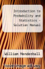 cover of Introduction to Probability and Statistics - Solution Manual (10th edition)