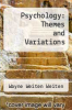 cover of Psychology: Themes and Variations (5th edition)