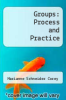 cover of Groups: Process and Practice (6th edition)