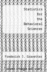 Cover of Statistics for the Behavioral Sciences 5 (ISBN 978-0534370886)
