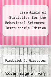 Cover of Essentials of Statistics for the Behavioral Sciences: Instructor