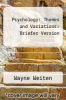 cover of Psychology: Themes and Variations: Briefer Version (5th edition)