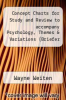 cover of Concept Charts for Study and Review to accompany Psychology, Themes & Variations (Briefer Version) (5th edition)