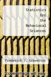 Cover of Statistics for the Behavioral Sciences 6 (ISBN 978-0534622039)