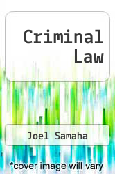 Cover of Criminal Law 8 (ISBN 978-0534629922)