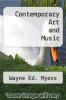 cover of Contemporary Art and Music (6th edition)