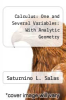 cover of Calculus: One and Several Variables: With Analytic Geometry (2nd edition)