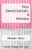 cover of This Constitution: A History