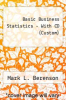 cover of Basic Business Statistics - With CD (Custom)