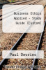 cover of Business Ethics Applied (Study Guide)
