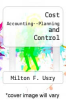 cover of Cost Accounting--Planning and Control (9th edition)