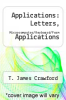 cover of Applications: Letters, Microcomputer/Keyboard/Form Applications (1st edition)