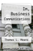 cover of Im, Business Communications