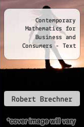 Cover of Contemporary Mathematics for Business and Consumers - Text EDITIONDESC (ISBN 978-0538481267)