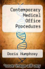 cover of Contemporary Medical Office Procedures (1st edition)