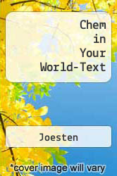 Cover of Chem in Your World-Text  (ISBN 978-0538741484)