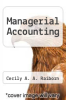 cover of Managerial Accounting (3rd edition)
