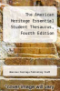 cover of The American Heritage Essential Student Thesaurus, Fourth Edition (4th edition)