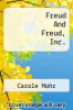 cover of Freud And Freud, Inc.