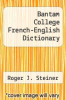 cover of Bantam College French-English Dictionary