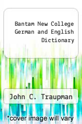 Cover of Bantam New College German and English Dictionary EDITIONDESC (ISBN 978-0553272574)