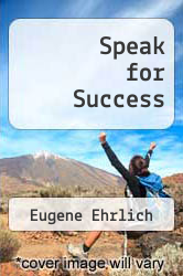 Speak for Success by Eugene Ehrlich - ISBN 9780553279290