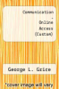 cover of Communication - Online Access (Custom)