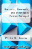 cover of Rhetoric, Research, and Strategies (Custom Package) (3rd edition)
